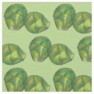 Tissu Fin gourmet végétal végétarien vert de choux de