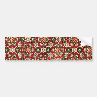 Tissu fleuri rouge de Medici Autocollant Pour Voiture