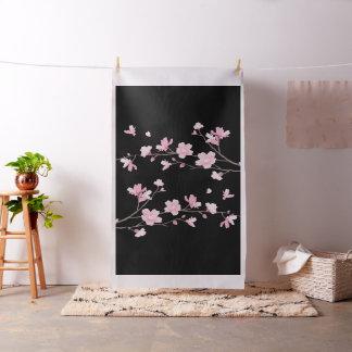 Tissu Fleurs de cerisier - noir