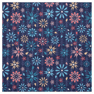 Tissu Fleurs en pastel de ressort