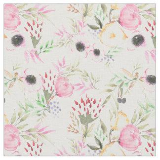 Tissu floral d'aquarelle avec des pivoines et des