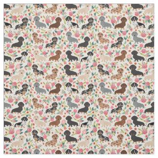 Tissu floral de Doxie - copie mignonne de tissu de
