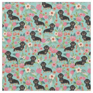 Tissu floral de Doxie - noircissez et doxie