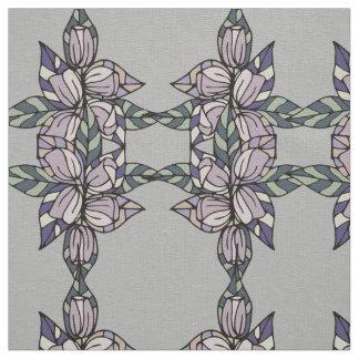 Tissu floral et de feuille de tuile d'impression