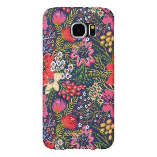 Tissu floral lumineux vintage de motif