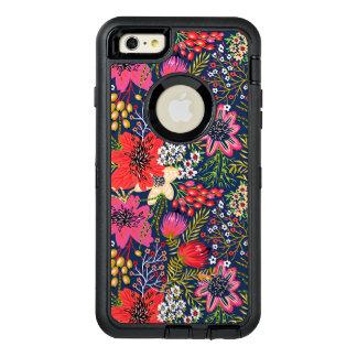 Tissu floral lumineux vintage de motif coque OtterBox iPhone 6 et 6s plus