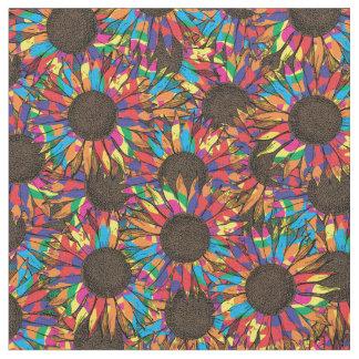tissu fou de motif de tournesol