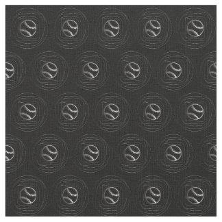 Tissu frais de noir de motif de base-ball