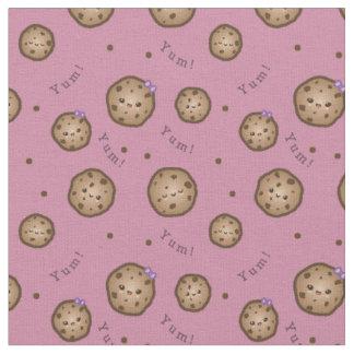 Tissu Gâteaux aux pépites de chocolat de Kawaii