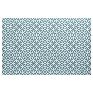 Tissu géométrique bleu turquoise de motif