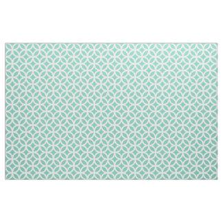 Tissu géométrique de motif de turquoise