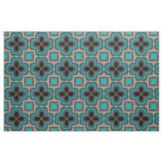 Tissu géométrique d'impression de style marocain