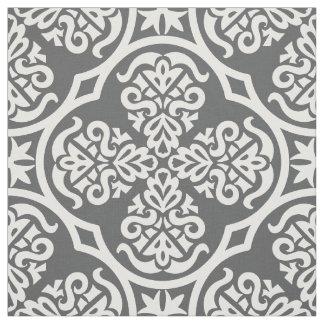 Tissu géométrique gris et blanc moderne