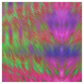 Tissu géométrique psychédélique au néon
