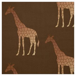 Tissu Girafe, cuivre et Brown géométriques modernes