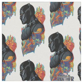 Tissu Graffiti de tribal de panthère noire de la