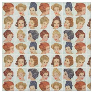 Tissu grille de coiffures des années 1960