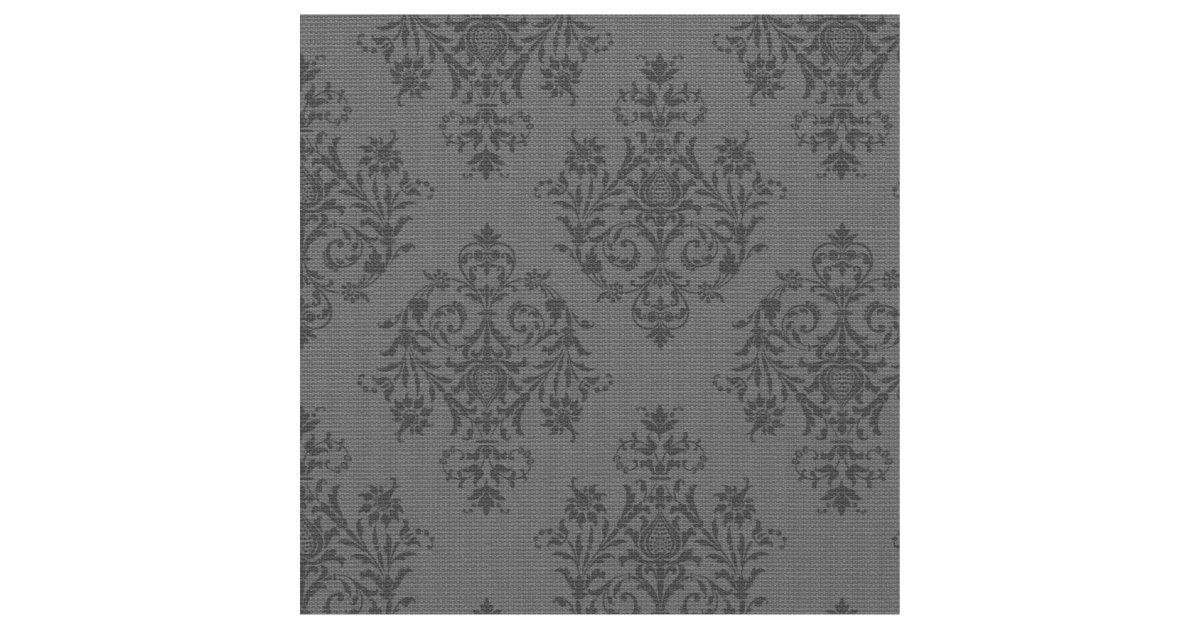 tissu gris baroque fleuri de motif de damass. Black Bedroom Furniture Sets. Home Design Ideas