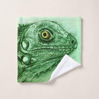 Tissu illustré coloré de lavage - iguane