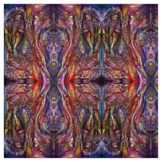 Tissu Imaginaire bleu pourpre rose de VIVIEN ET de