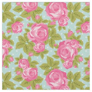 Tissu Impression florale vintage Girly de roses de rose