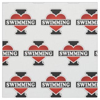 Tissu J'aime nager
