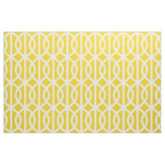 Tissu jaune citron de motif de treillis