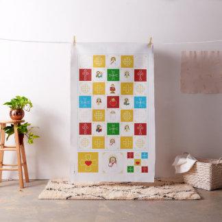 Tissu Jésus et carrés mignons d'édredon de bébé de saint