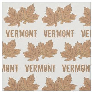 Tissu La feuille d'érable du Vermont part du fin gourmet