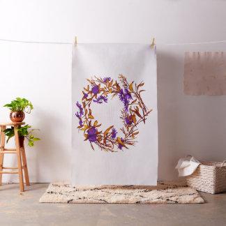 Tissu La guirlande florale de fleur plante