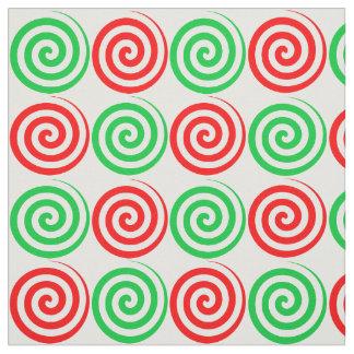 Tissu La spirale de sucrerie de vacances de Noël