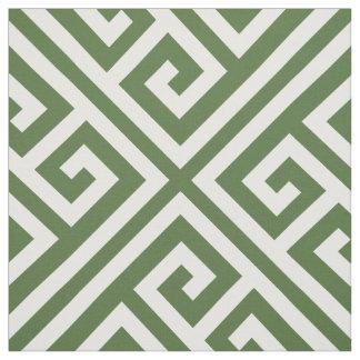 Tissu Large échelle principale grecque de vert de mousse