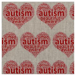 Tissu L'autisme est beau