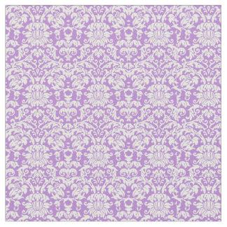 Tissu Lavande et damassé vintage blanche