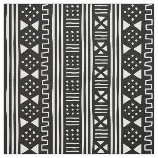 Tissu Le blanc sur l'Africain noir MudCloth a inspiré