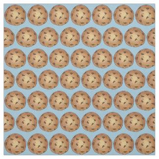 Tissu Le bleu de gâteaux aux pépites de chocolat font la