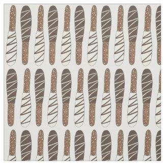 Tissu Le chocolat couvert a plongé des bâtons de Rods de