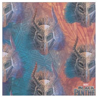 Tissu Le masque tribal noir de la panthère | a recouvert
