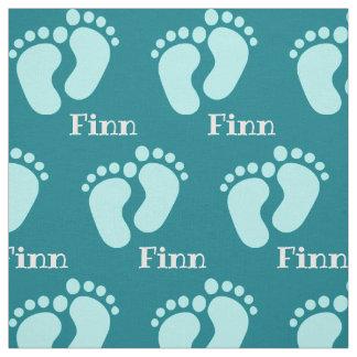 Tissu le motif d'enfant avec des noms personalisiert