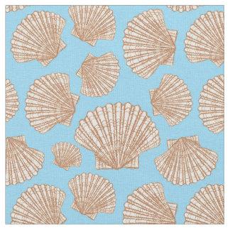 Tissu Le motif vintage   de coquillage de style ajoutent