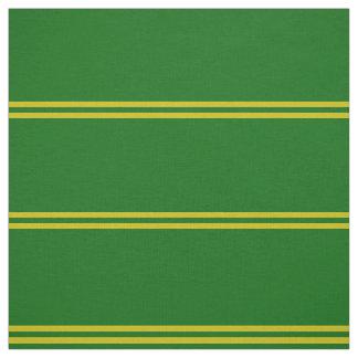 Tissu Le vert d'île, or a barré la conception