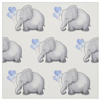 Tissu L'éléphant mignon avec le coeur monte en ballon la