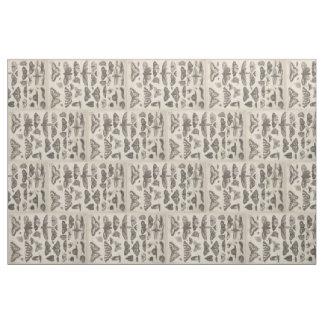 Tissu Lépidoptères vintages 7.8x12 d'entomologie