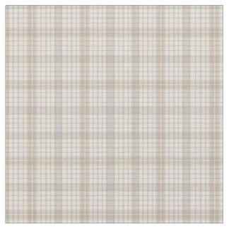 Tissu Les gris neutres écrème et le motif Fabr de plaid