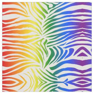 Tissu LGBT audacieux et lumineux d'impression de zèbre