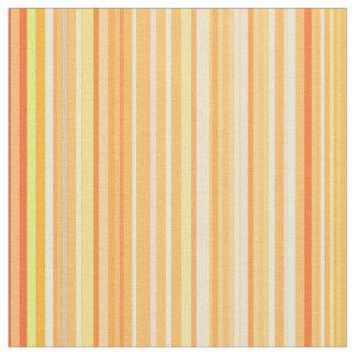 Tissu Lignes barrées par rayure jaune d'impression de