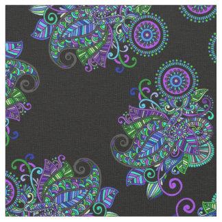 Tissu Mandala de paon