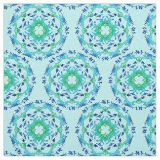 Tissu Mandala floral ethnique /pattern de cercles.