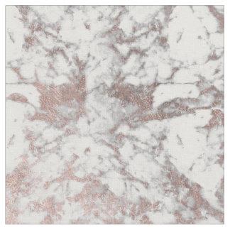 Tissu Marbre élégant d'or rose blanc moderne élégant de