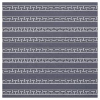 Tissu Marine masculine/rayure grise